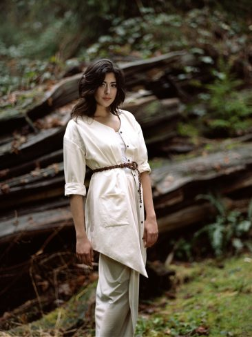 Organic cotton jacket and skirt - Verena Erin. Photo: Ryan Kelly