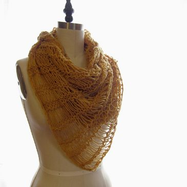 Onion Skin Drop Stitch Scarf
