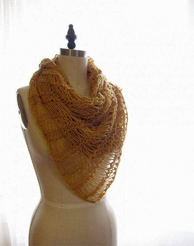 onion skin, natural dye knit scarf - Verena Erin