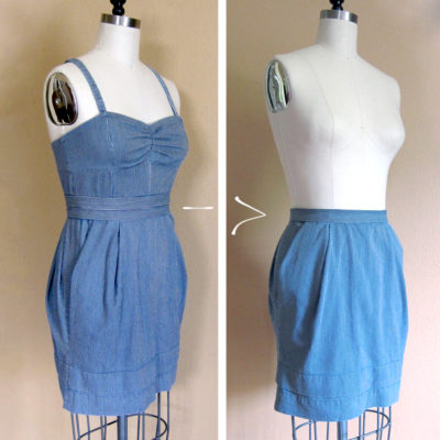 Dress to Skirt sewing tutorial