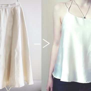 Tank from a Skirt DIY